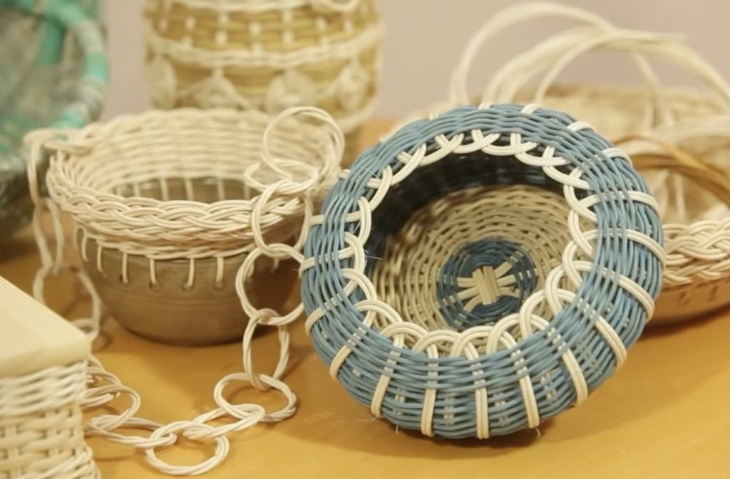 Pletení z pedigu - košíčky